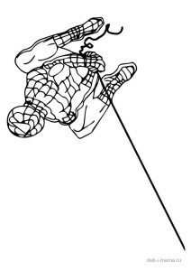 Человек-паук на паутине