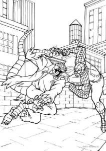 Раскраска Человек-паук и злодей