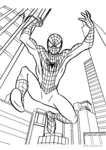 Человек-паук в прыжке