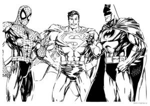 Супергерои: Человек-паук, Бэтмен, Супермен