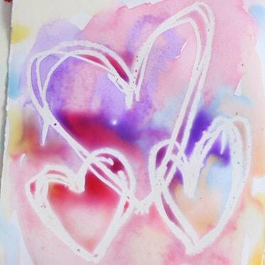 Поделка, рисунок ко Дню Святого Валентина, детская