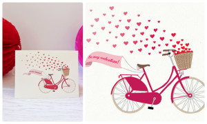 Розовый велосипед с сердечками