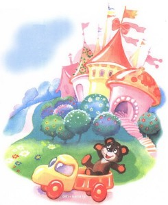 Замок и игрушечная машинка