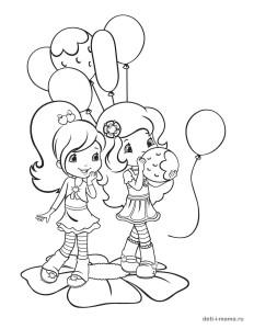 Раскраска для девочек День Рождения