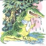 Крокодил плачет рисунок