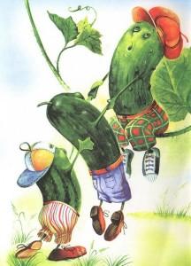 рисунок огурцов