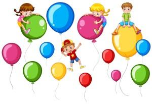 Дети на воздушных шарах