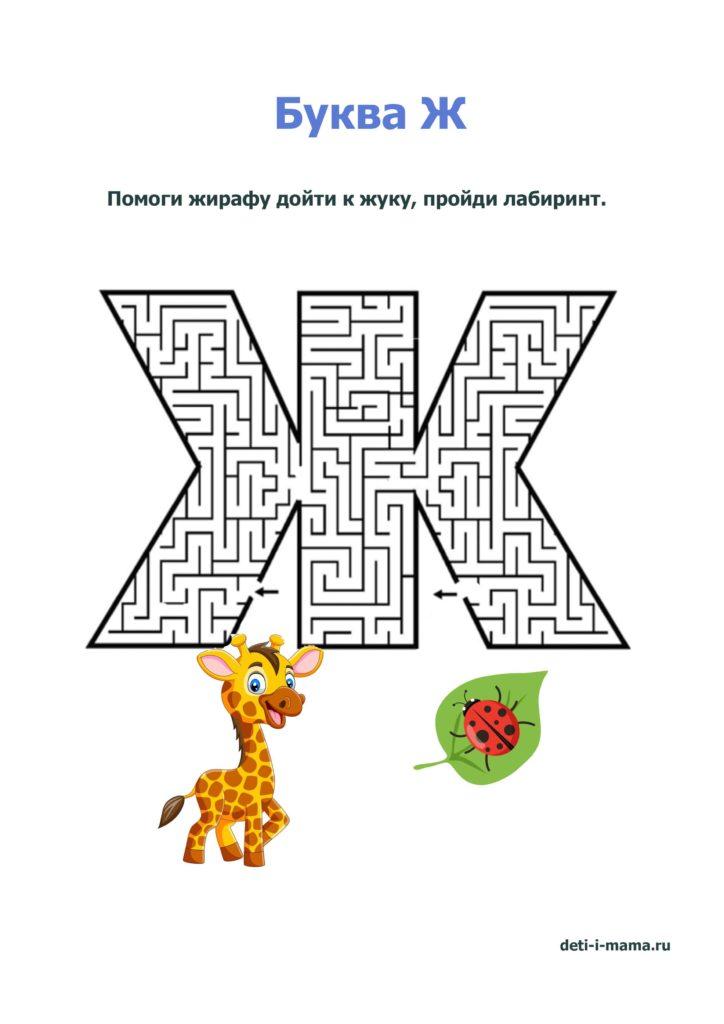 лабиринт в виле буквы Ж