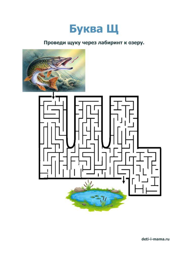 лабиринт в виде буквы Щ
